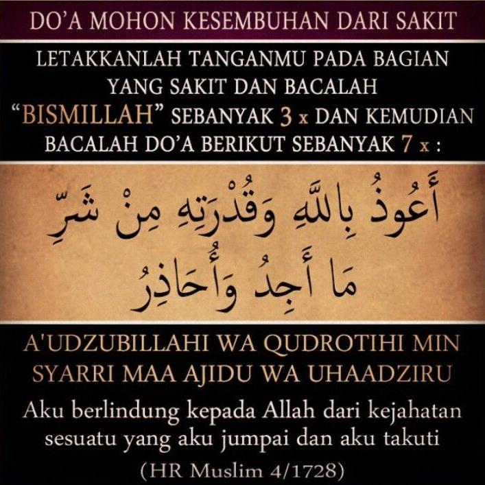 Begini Doa Nabi Muhammad Sembuhkan Bagian Tubuh Yang Sakit Gudang